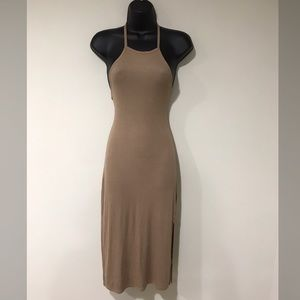 Tan halter dress